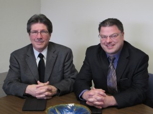 Lorain City Schools Superintendent Thomas Tucker (left); Mark Evans, Director of Data and Accountability (right)