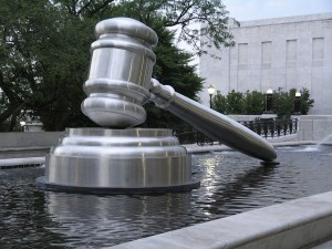Silver supreme court gavel