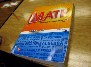 Some schools are already teaching the Common Core curriculum, and using Common Core text books like this one.