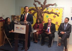 HUD Secretary Julian Castro with Cleveland area school officials.