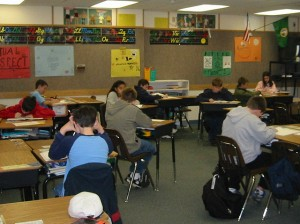 Students taking tests - Peter Bulthuis