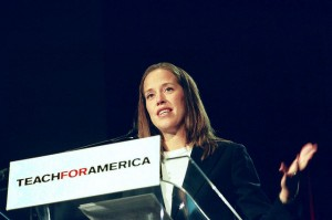 Wendy Kopp, founder of Teach For America, speaking in 2009