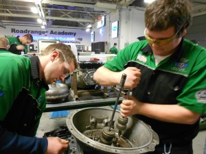 Students at Ohio Technical College learn how to repair auto parts.